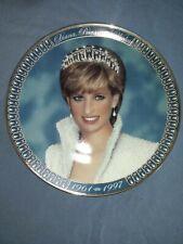 Diana, Princess of Wales Tribute Fine Porcelain Decorative Plate By Franklin.