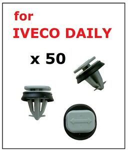 50 x WINDSCREEN PILLARS AND MOULDING CLIPS for IVECO DAILY VAN