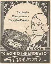 W2347 Cipria Giacinto Innamorato di Gi.vi.emme - Pubblicità del 1930 - Advert