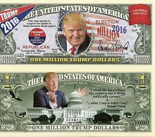 Donald Trump 2016 Million Dollar Bill