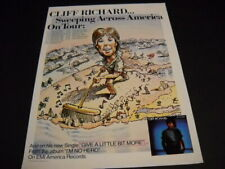 Cliff Richard April 1981 Usa Tour Dates Promo Poster Ad He's Sweeping.America