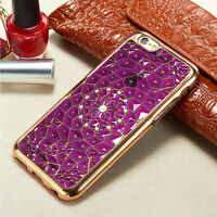 3D Diamond Flower Bling TPU Gel Case Back Cover For Various Mobile Phone +Stylus