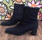Stuart Weitzman Boots Black Gore Tex Waterproof Zip Women's Size 9.5 AA Narrow