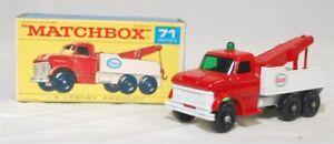 MATCHBOX REGULAR WHLS - R-71C VER 3, FORD HVY WRECK TRK, RED CAB, WHT BED JB1243