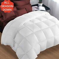 Ultra Soft Premium Goose Down Alternative Comforter Reversible Queen King Sizes