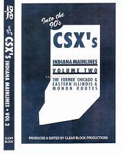 CSX's INDIANA MAINLINES VOL 2 CLEAR BLOCK DVD