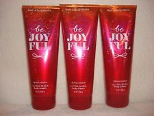 3 Bath & Body Works Be Joyful 24 hour moisture Ultra Shea Body Cream 8 oz each