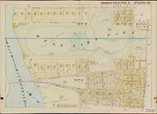 1908 JERSEY CITY HUDSON COUNTY NEW JERSEY DUNCAN AV TO BOYD AV ATLAS MAP
