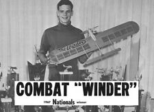 "Model Airplane Plans (UC): WINDER 42-3/4"" Combat for .35 Engine by Terry Prather"