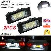 2 LED License Number Plate Light for BMW E39 E60 E82 E70 E90 E92 X3/6/5 Series