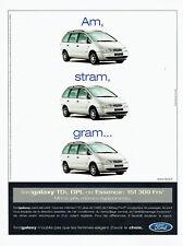 Publicité Advertising 107  1999  Ford Galaxy  tdi gpl essence Keytronic
