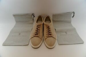 Authentic Brunello Cucinelli Suede Mens Sneakers Size 42 1/2 US9.5