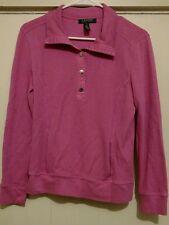 Lauren Ralph Lauren Women's Pink Long Sleeve Collared Pullover Size S
