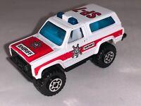 """Vintage 1983 Matchbox 4X4 Chevy Blazer Sheriff SP-7 Truck Die Cast Made Macau 3"""""""