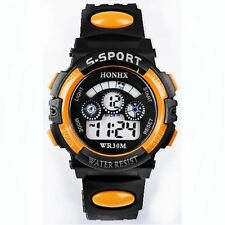HOT Waterproof Children Boys Digital LED Sports Watch Kids Alarm Date Watch Gift