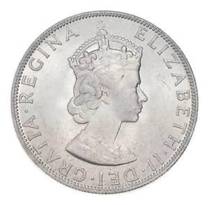 Choice BU Unc 1964 Bermuda 1 Crown Silver Coin - Mint State *768