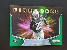2020 Panini Prizm Fireworks Prizms Green #15 Josh Jacobs