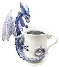 "Whatcha Drinkin"" Peeking Tea Cup Statue Figurine Mystical Amy Brown Collection"
