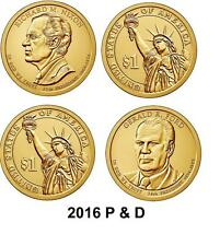 2016 P & D RICHARD NIXON  GERALD FORD DOLLAR COINS     4 Coins