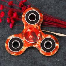 Red Fire Hand Spinner Fidget Stress Reducer Camo Color Tie Dye Finger Game Toy