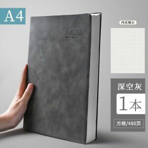 Notebook Super Thick Big Business Grid Blank Diary Journals Elegant Note Office