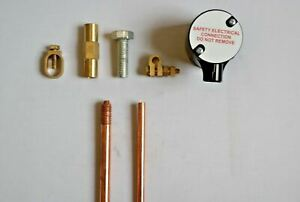 Copper Earth Rod Earthing Connection Box pit clamp driving stud coupler3/8 5/8
