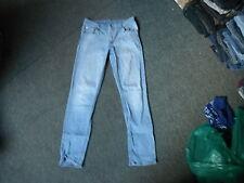"Cheap Monday Tight favouri Jeans Waist 33"" Leg 32"" Faded Light Blue Ladies Jeans"
