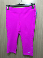 BNWT Womens Sz M 12 Champion Brand Raspberry Crop Stretch Knee Length Legging