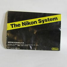 The Nikon F3 HP camera System accessory Guide Brochure DA-2 DW-4 DE-2 O40736