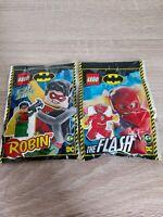 Lego DC. The Flash And Limited Edition Robin Mini Figure 211904 Foilbag Lot