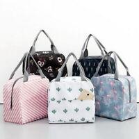Kids Womens Cute Portable Picnic Tote Waterproof Insulated Zipper Lunch Bag 03
