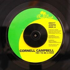 """NEW 7"""" Cornell Campbell - Try To Be A Man  /  Full Moon Riddim (Melodica Version"""