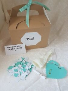 You're going to be a BIG BROTHER,, pop the balloon, personalised gift, baby news