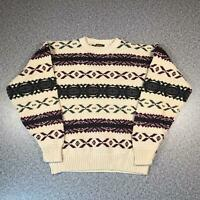 Vintage 90s BRIMWICK Cosby Style Mens Sweater Large | 3D Knit Jumper