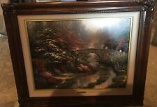 Signed Original Stillwater Bridge by Thomas Kinkade SN Limited Edition Canvass