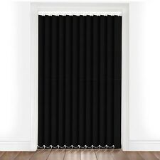"PLAIN BLACK MADE TO MEASURE VERTICAL BLIND REPLACEMENT SLATS 89mm (3.5"") WIDE"