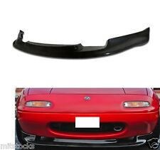FOR 90-97 MIATA GV PU BLACK ADD-ON FRONT BUMPER LIP SPOILER CHIN