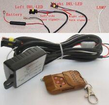 Daytime Running Light DRL LED Relay Harness Flash Strobe Light Remote Controller