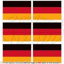 "Germania bandiera allemande deutschland adesivi cellulare 40mm (1.6"") autocollants x6"
