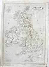 1837 Fremin Monin Great Britain Ireland map engraving