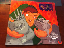 Disney The Hunchback Of Notre Dame 1997 wall Calendar exclusive 16 Month