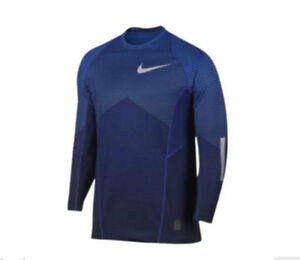Men's Nike PRO Hyper Warm Fitted Shirt  802016 480 Size S~XL