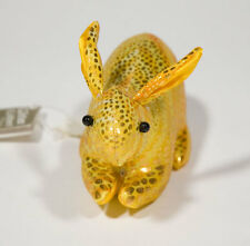 GLITTER CRITTERS COLLECTIONS SHINY GOLDEN JACK RABBIT BUNNY BEANIE OLD HICKORY