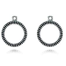 NEW!Authentic Pandora Eternity Black Crystal Compose Earrings #290664NCK RETIRED