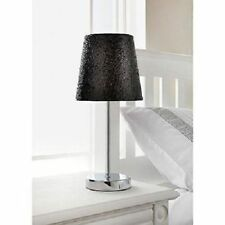 Glitter Table Bedside Bedroom Lamp Sparkle Collection Metallic With Chrome Stand