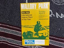 1966 MALLORY PARK PROGRAMME 3/4/66 - INTERNATIONAL SIDECAR RACE OF THE YEAR