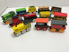 orbrium wooden magnetic toy trains lot engines