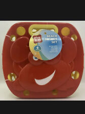 New Play Day Crab 6 Piece Sand Tool Beach Pail Basket Set Ages 2+