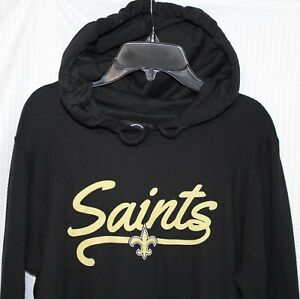 '47 New Orleans SAINTS Women's Hoodie, Black, SIZES SMALL & MEDIUM,  415796