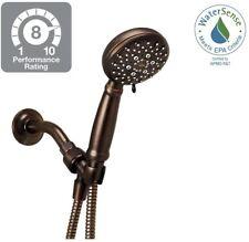 Bronze Hand Held Shower Head 5 Setting Massage Wide Spray 60 in. Hose Water